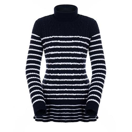[팬텀]여성 플레어 헴 스트라이프 스웨터 22183SN175_NA