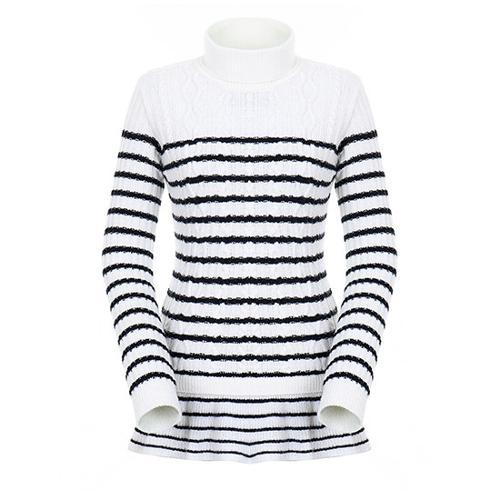 [팬텀]여성 플레어 헴 스트라이프 스웨터 22183SN175_IV