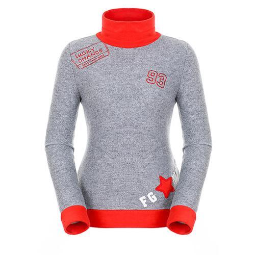 [팬텀]여성 컬러 블로킹 하이넥 긴팔 티셔츠 22183TH064_MG