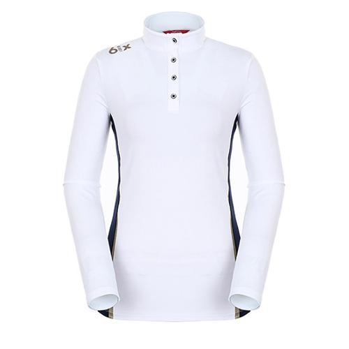 [팬텀]여성 라인 패널 기모 하이넥 티셔츠 22183TH068_WH