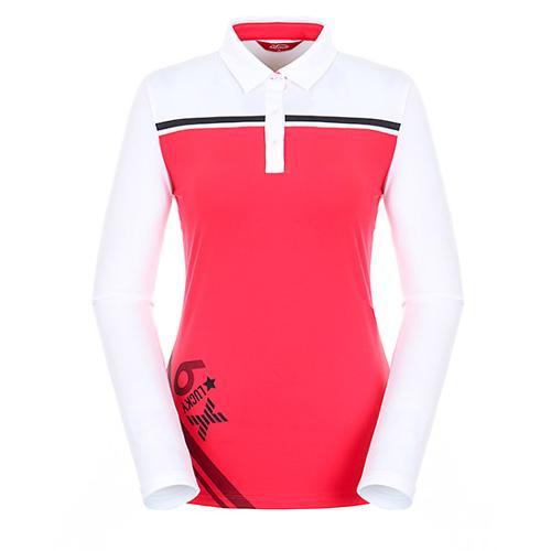 [팬텀]여성 컬러 블록 기모 티셔츠 22183TO072_WH