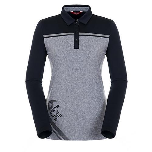 [팬텀]여성 컬러 블록 기모 티셔츠 22183TO072_BK