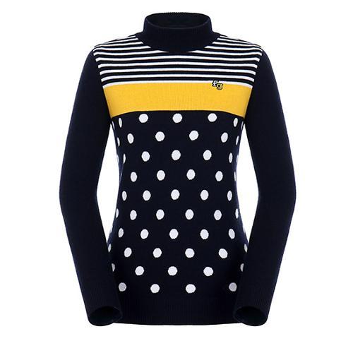 [팬텀]여성 패턴 믹스 울 스웨터 22183SN167_NA
