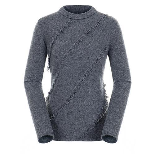 [팬텀]여성 프린지 스트라이프 스웨터 22183SN174_MG