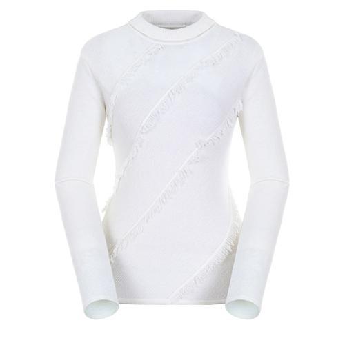 [팬텀]여성 프린지 스트라이프 스웨터 22183SN174_IV