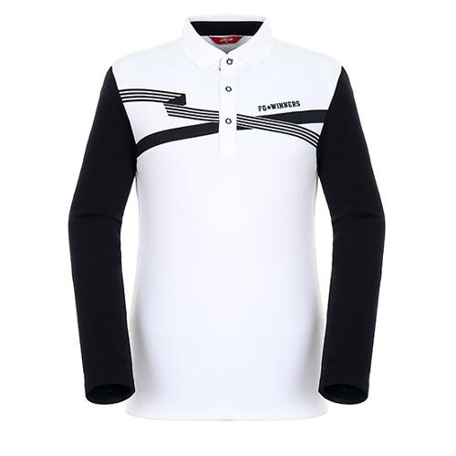[팬텀]남성 소매 배색 폴로넥 티셔츠 21183TO003_IV
