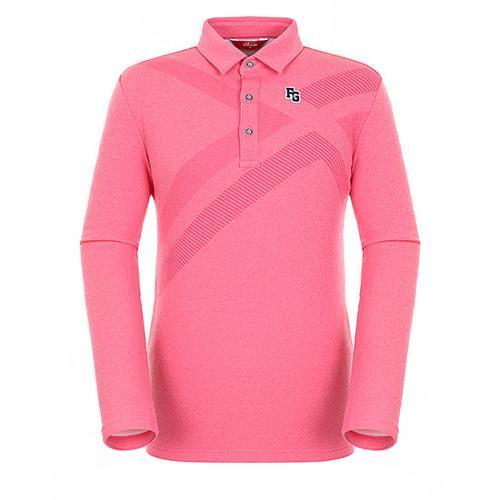 [팬텀]남성 패턴 포인트 멜란지 티셔츠 21183TO004_PK
