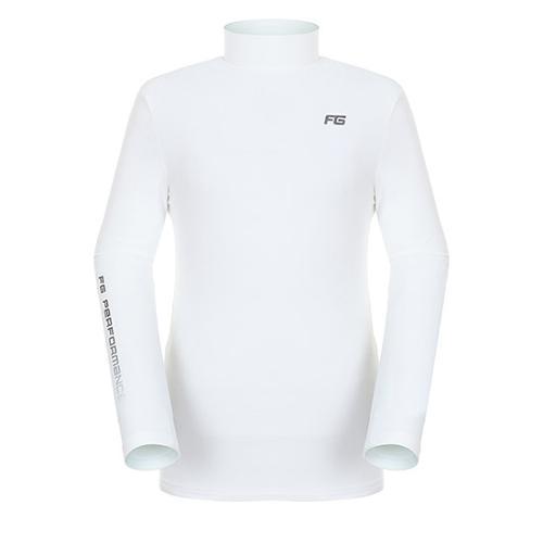 [팬텀]남성 솔리드 기모 이너 티셔츠 21283TI903_WH