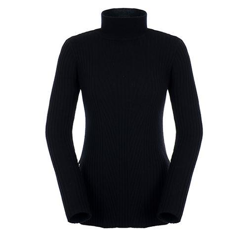 [팬텀]여성 사이드 버튼 리브 스웨터 22183SN176_BK