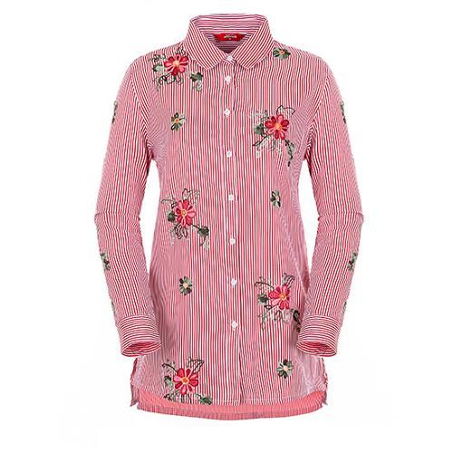 [팬텀]여성 플라워 자수 버튼다운 셔츠 22183JS554_RE