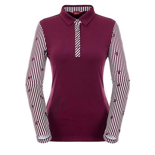 [팬텀]여성 스트라이프 소매 소프트 티셔츠 22183TO056_WN