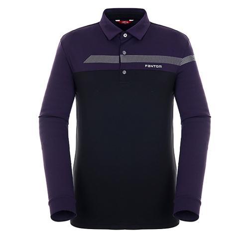 [팬텀]남성 컬러 블록 기모 긴팔 티셔츠 21183TO007_PP