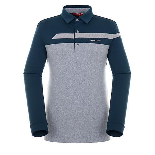 [팬텀]남성 컬러 블록 기모 긴팔 티셔츠 21183TO007_GN