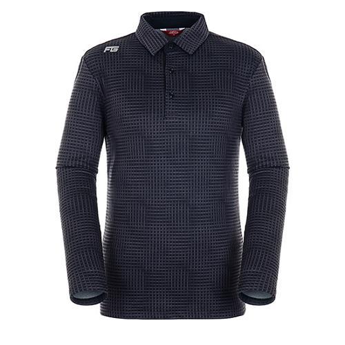 [팬텀]남성 플래드 패턴 기모 긴팔 티셔츠 21183TO011_BK