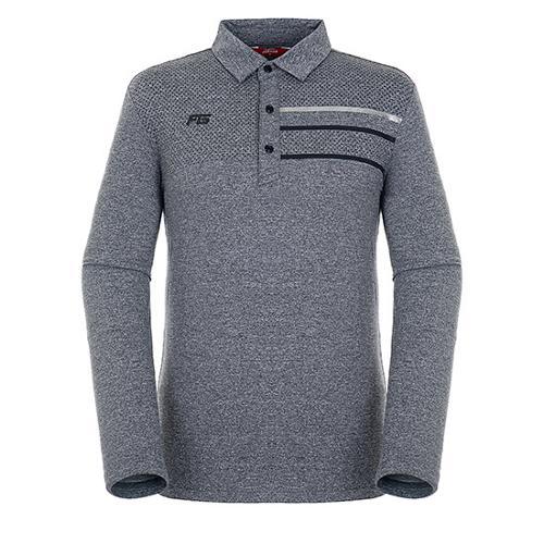 [팬텀]남성 패턴 프린트 멜란지 긴팔 티셔츠 21183TO028_DG