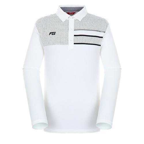 [팬텀]남성 패턴 프린트 기모 긴팔 티셔츠 21183TO022_WH