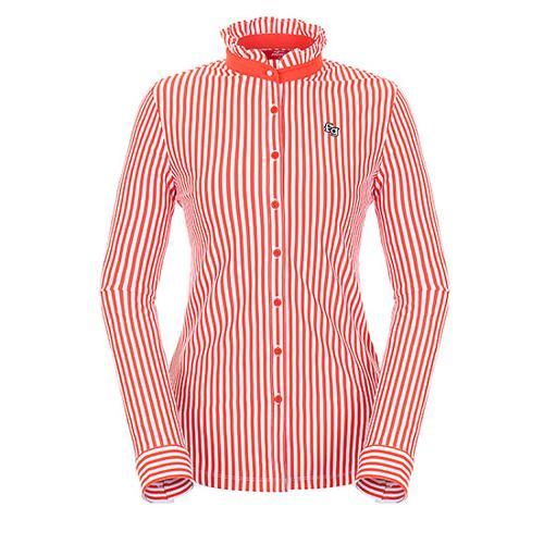 [팬텀]여성 스트라이프 버튼다운 긴팔 티셔츠 22183TH086_OR
