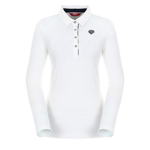 [팬텀]여성 스트라이프 포인트 기모 티셔츠 22283TO952_IV