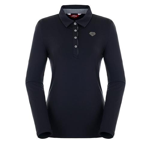 [팬텀]여성 스트라이프 포인트 기모 티셔츠 22283TO952_BK