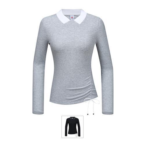 [르꼬끄골프] [19FW 신상]여성 골지 스트링포인트 긴팔티셔츠 (G9322LTL96)