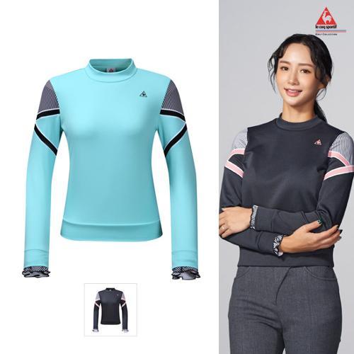 [르꼬끄골프] [19FW 신상]여성 배색포인트 맨투맨 티셔츠 (G9422LTLO3)