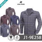 [JEAN PIERRE] 쟌피엘 면 체크 긴팔 셔츠 Model No_J1-9E258