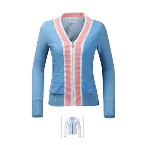 [르꼬끄골프] [19FW 신상]여성 브이넥 방풍 스웨터 가디건 (G9322LKC93)