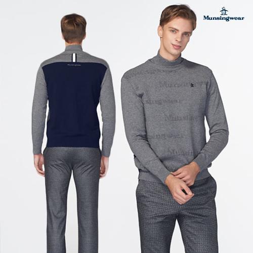 [19FW 신상]남성 레터링 방풍안감탈부착 스웨터 (M9421MSWO2)