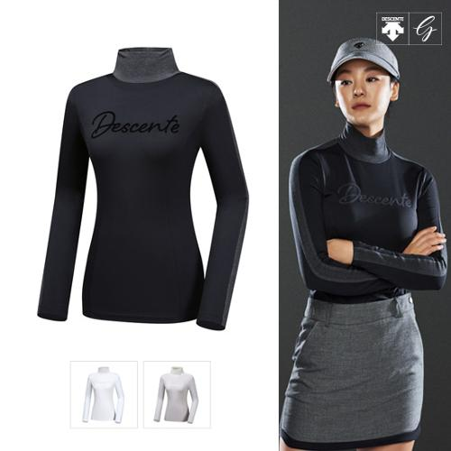 [데상트골프] [19FW]여성 로고 레터링 기모 긴팔 티셔츠 (D942WFTLO1)