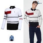 [먼싱웨어] [판매 BEST]남성 변형스트라이프 방풍반집업 스웨터 (M9421MSWO1)