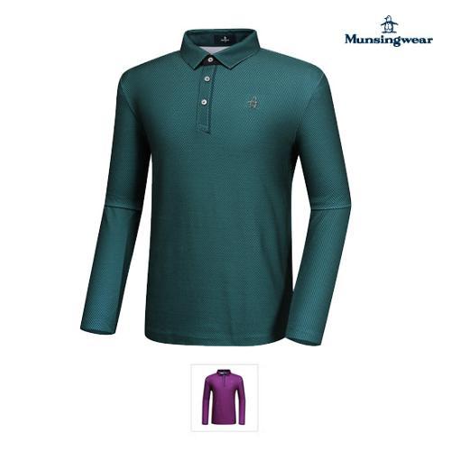 [먼싱웨어] 남성 잔패턴 기모 티셔츠 (M9321MTL9E)