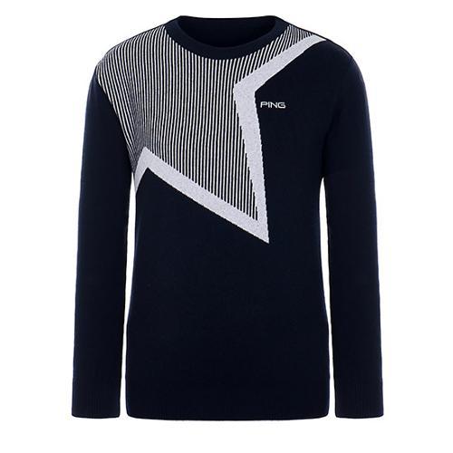 [핑]남성 스트라이프 별 스웨터 11183SR111_NA