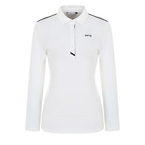 [핑]여성 플래킷 배색 기모 티셔츠 12283TO952_IV