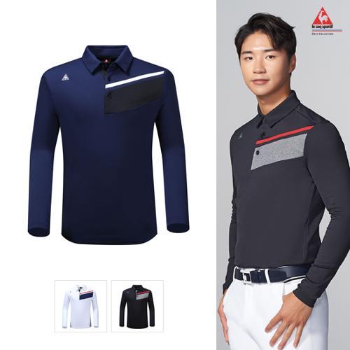 [19FW 신상]남성 사선 블럭 기모 원단 긴팔 티셔츠 (G9421MTLO1)