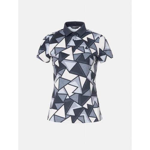 [빈폴골프] 여성 베이지 그래픽 패턴 칼라 티셔츠 (BJ9442A54A)