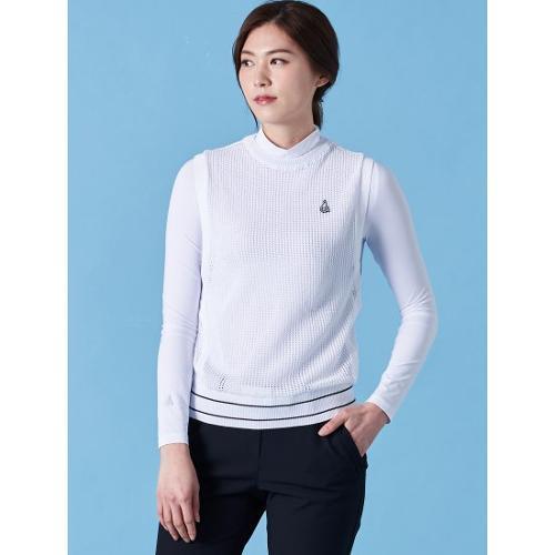 [빈폴골프] 여성 아이보리 쿨스킨 하이넥 티셔츠 (BJ9141A100)