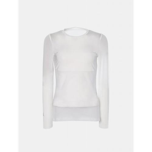 [빈폴골프] 여성 화이트 쿨스킨 메쉬 라운드넥 티셔츠 (BJ9141A111)