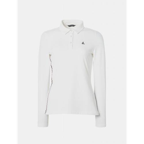 [빈폴골프] 여성 아이보리 스트레치 프린팅 칼라 티셔츠 (BJ9141A010)