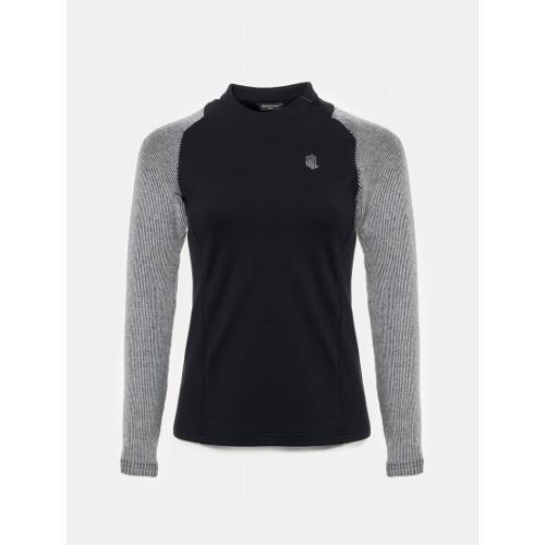 [빈폴골프] [NDL라인] 여성 블랙 하이브리드 티셔츠 (BJ9941L505)
