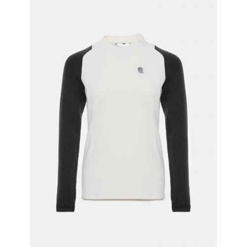 [빈폴골프] [NDL라인] 여성 아이보리 하이브리드 티셔츠 (BJ9941L500)