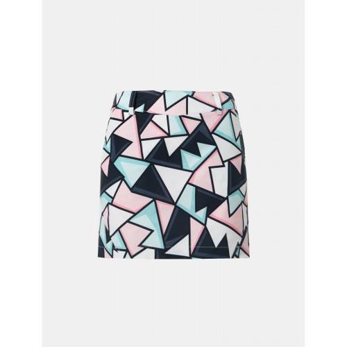 [빈폴골프] 여성 라이트 핑크 그래픽 패턴 큐롯 (BJ9426A13Y)