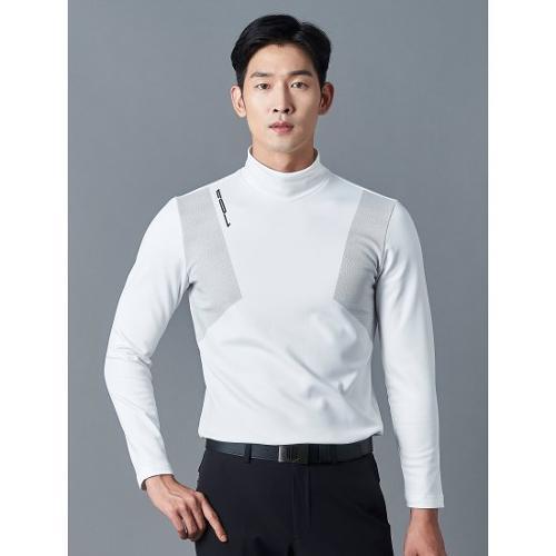 [빈폴골프] [NDL라인] 남성 아이보리 기모 하이넥 티셔츠 (BJ9941M460)