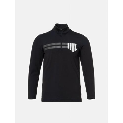 [빈폴골프] [NDL라인] 남성 블랙 원포인트 반집업 티셔츠 (BJ9841M425)