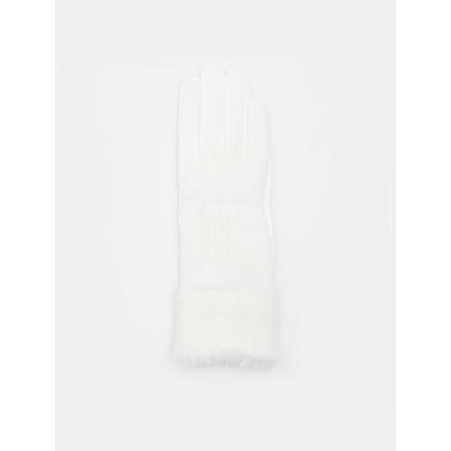 [빈폴골프] [NDL라인] 여성 화이트 퍽스 퍼 기모 장갑 (BJ9987L410)