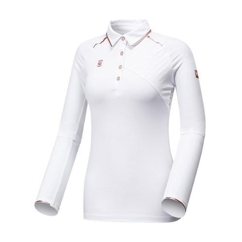 [와이드앵글] 여성 W리미티드 카라 긴팔 티셔츠 WWU17208W3