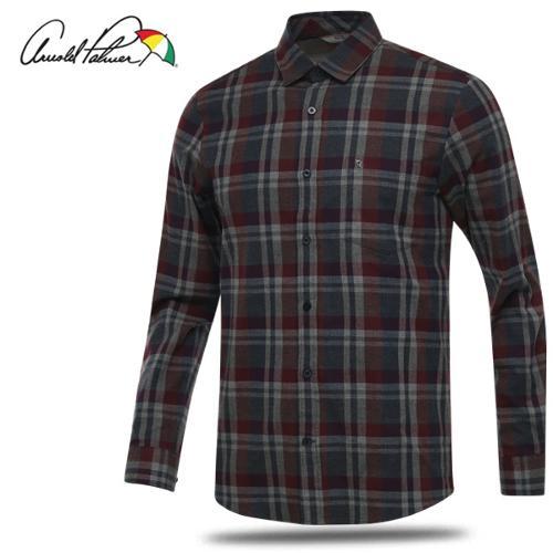 [아놀드파마] 순면 클래식 체크 남성 카라넥 긴팔 셔츠/골프웨어_AMW8WS53