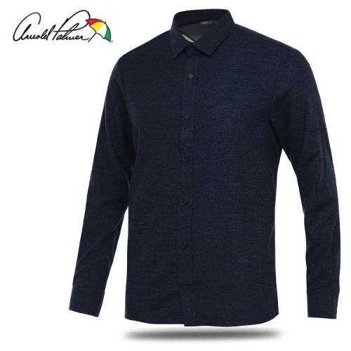 [아놀드파마] 레이온혼방 스트라이프 남성 카라넥 긴팔 셔츠/골프웨어_AMW8WS51