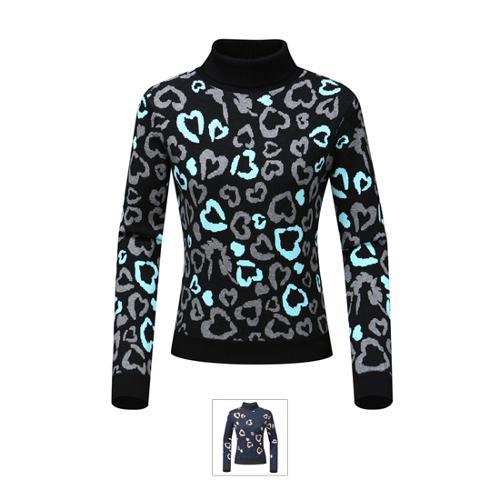 [르꼬끄골프] [19FW 신상]여성 호피 패턴 방풍 스웨터 (G9422LKPO2)