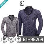 [LUSEN] 루센 쟈가드 패턴 카라 긴팔티셔츠 Model No_B1-9E269