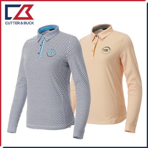 커터앤벅 여성 패턴 긴팔티셔츠 - PB-11-193-201-04